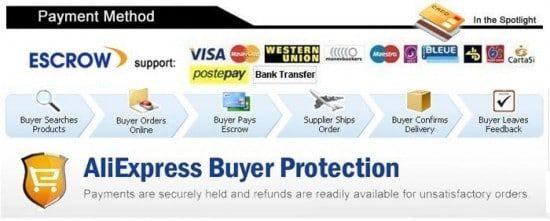 Escrow propose la garantie acheteur sur AliExpress