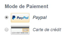 Il est possible de payer avec Paypal mais aussi par carte de crédit sur Banggood