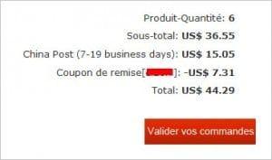 Ce code coupon va venir réduire le montant de vos achats, hors frais de port éventuels