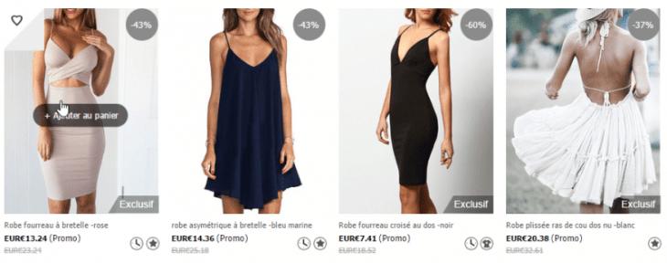 Les robes vendues sur Sheinside son très jolies