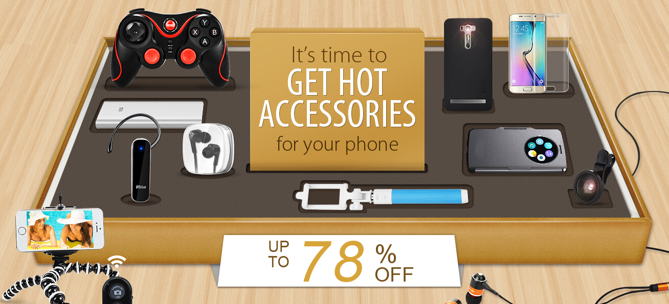 A pack of accessories on DealExtreme