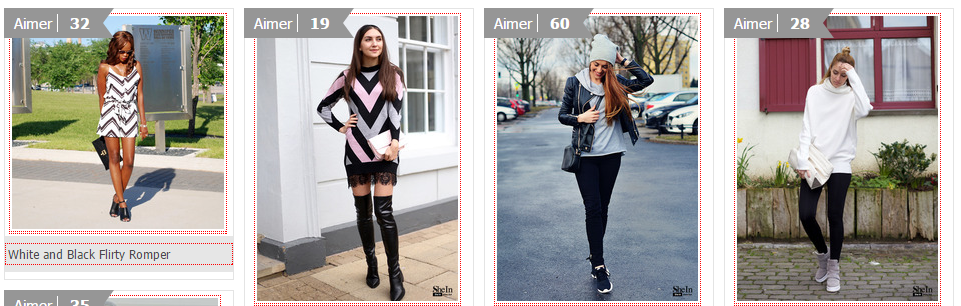 Les style Gallery sur SheIn