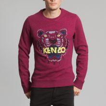 Un pull Kenzo pour homme rouge, arborant un tigre
