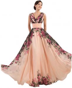Une robe de soirée avec des fleurs sur AliExpress