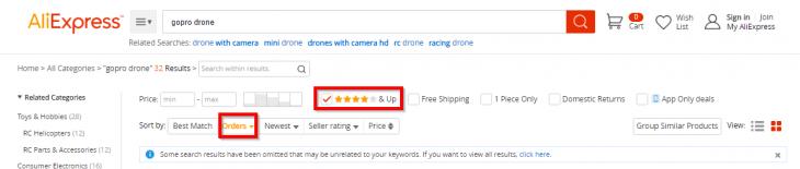 Les critères à cocher pour trouver un drone sur AliExpress