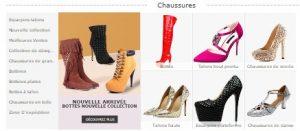 On peut trouver différentes chaussures sur Milanoo