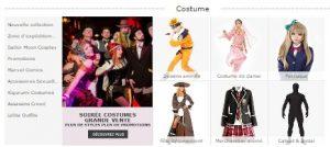 Les costumes et déguisements référencés sur Milanoo