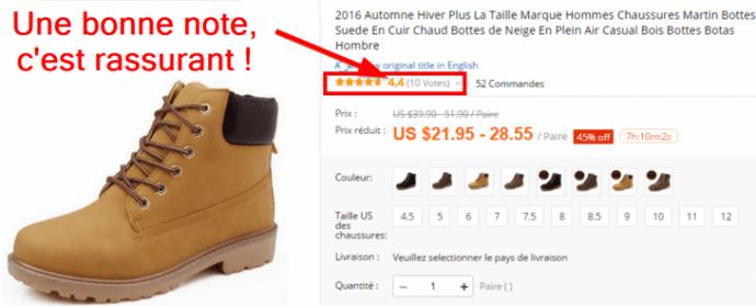 Un exemple de chaussures TImberland ayant reçu de bonnes critiques