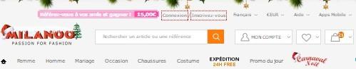 Milanoo, un site comme AliExpress spécialisé dans la vente de vêtements et d'accessoires de mode