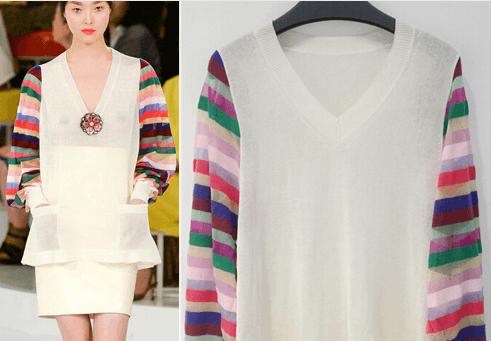 Un joli pull Gucci multicolore, proposé sur AliExpress
