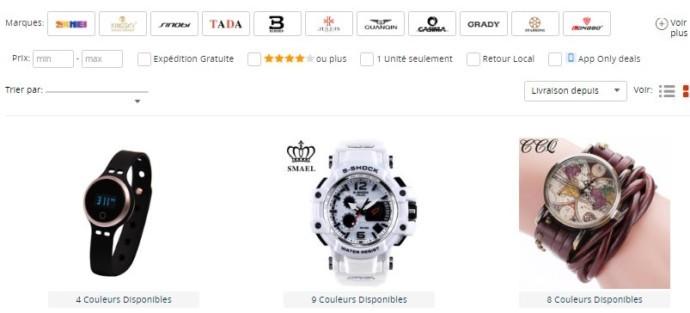 Un grand choix de montres