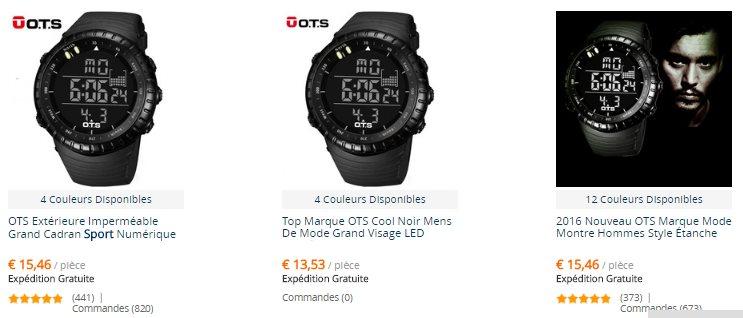 Les montres de la marque OCTS
