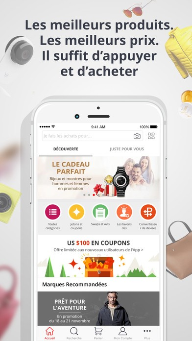 L'application AliExpress