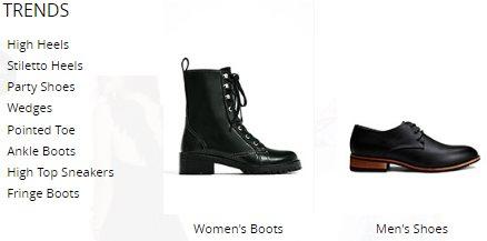 Des chausssures sur NastyDress