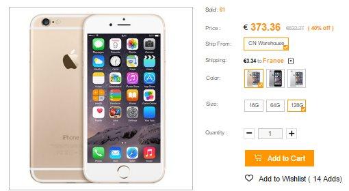 Iphone 6 sur CNDirect