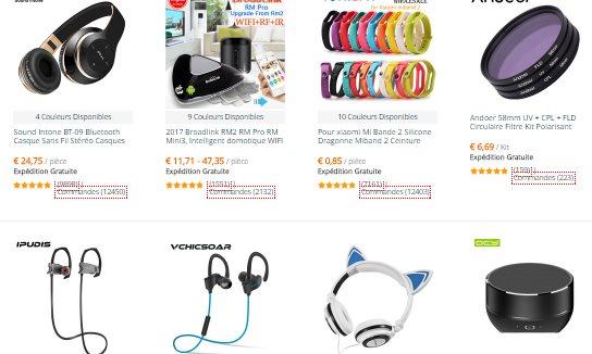 Les gadgets électroniques sur AliExpress Français
